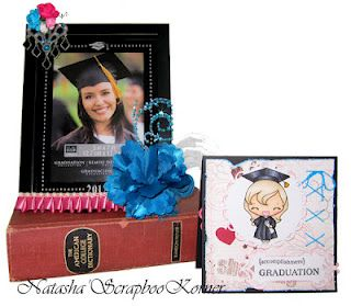 Altered picture frame and card for my friend! Congrats on your Graduation!