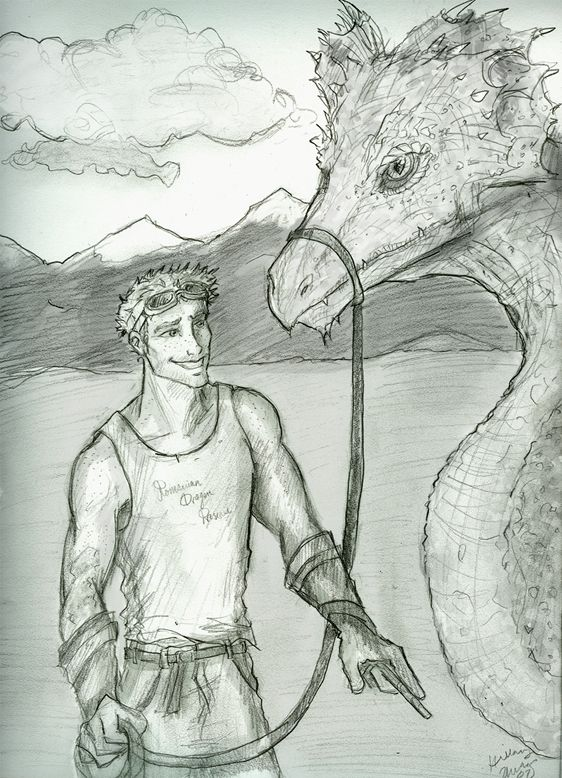 Charlie and a dragon by Hillary-CW.deviantart.com on @DeviantArt