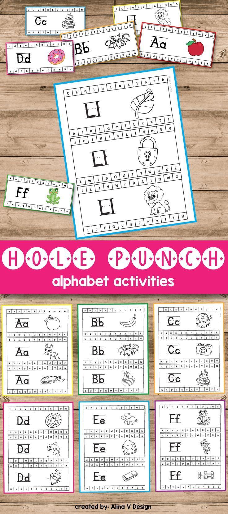 Hole Punch Activities (Alphabet Hole Punch Cards) | Pinterest ...
