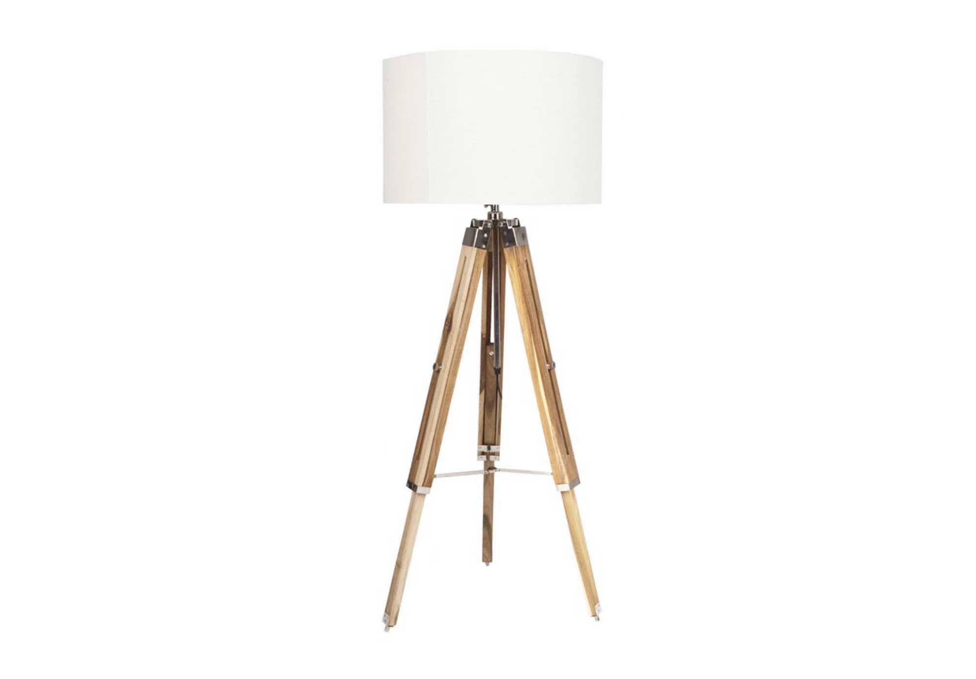 Our Tripod Floor Lamp is GORGEOUS! We just love the wooden legs and we think it fits the Scandinavian style perfectly.