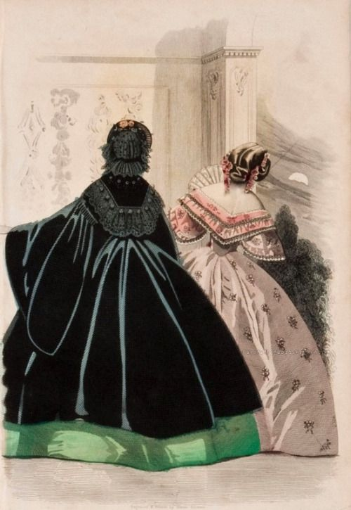 "carolathhabsburg: "" Fashion plate, 1861. """