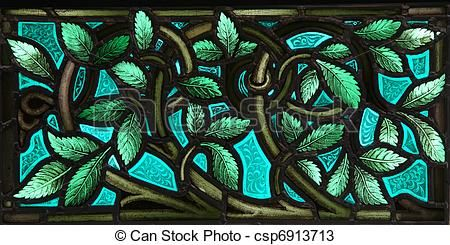 Stained Glass leaves - csp6913713