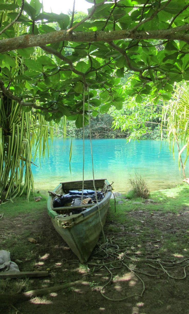 The beautiful Blue Lagoon... Jamaica #BlueLagoonJamaica