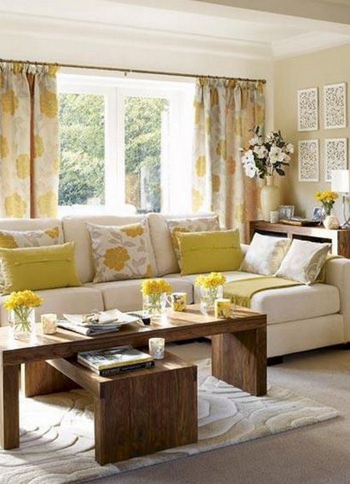50+ Spring Color Home Decor Living Rooms_40