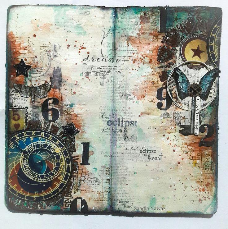 Destiny - An Art Journal Spread #artjournalmixedmediainspiration