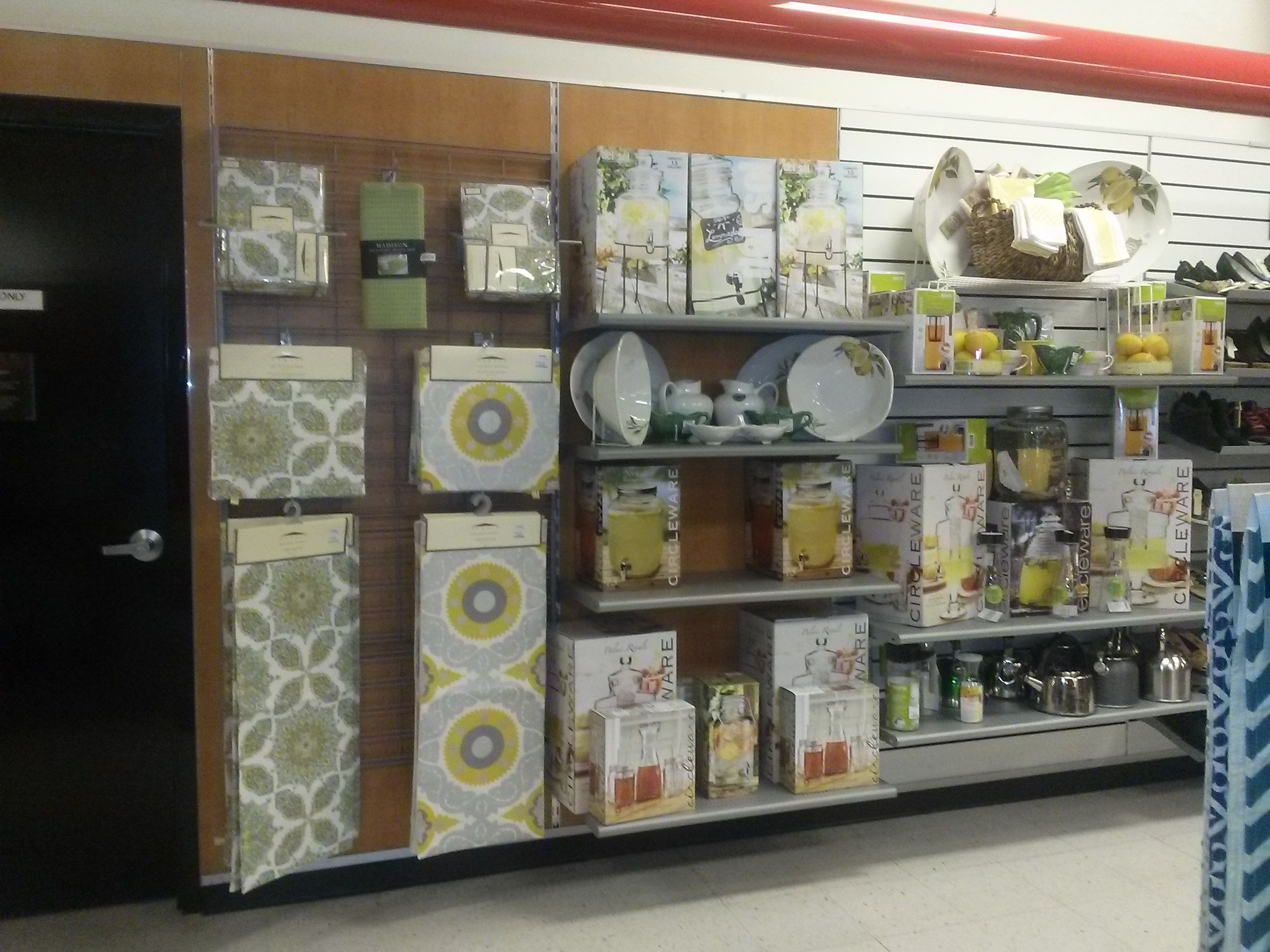 Merchandising display, house wares, TJ Maxx, Topeka