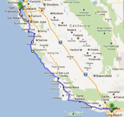 San Fran To La Roadtrip Vacation Road Trip Pacific