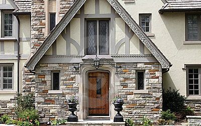 Very Well Done Half Timbered Gable With Barge Board Carved Detailing The Barge Board Should Appe Tudor Style Homes Tudor House Exterior English Tudor Homes