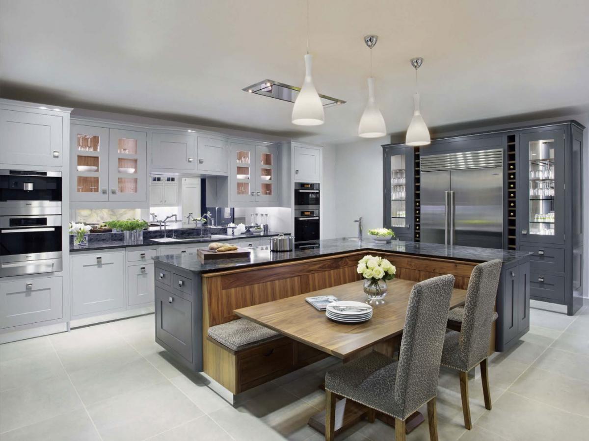 Cocina con desayunador deco pinterest cocinas con for Muebles modernos para cocina comedor