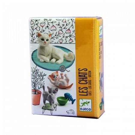 """Набор домашних животных """"Кошка с котятами"""", 3 фигурки ..."""