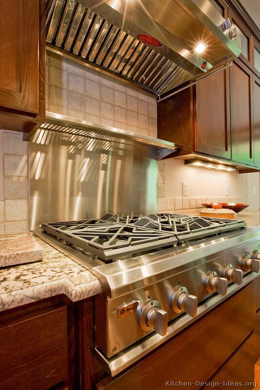 Stainless Steel Backsplash Over Cooktop Love The