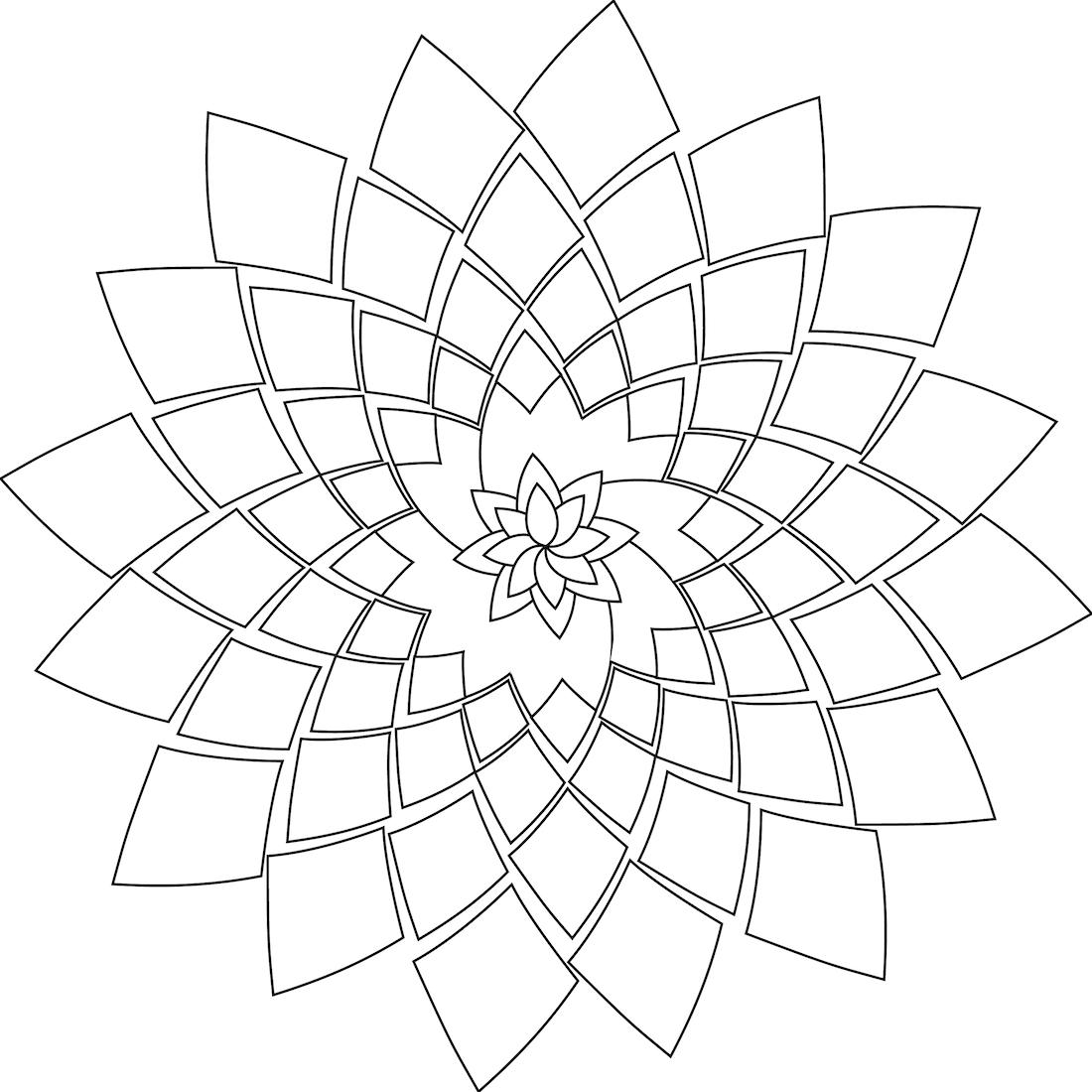 Coloring Page Picture Rosette Soul Picture Of Rosette Soul Coloring Page Geometrische Zeichnung Mandala Zum Ausdrucken Ausmalbilder