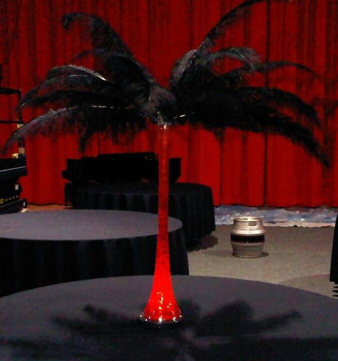 Black And Red Eiffel Tower Vase Centerpiece Wedding Pinterest