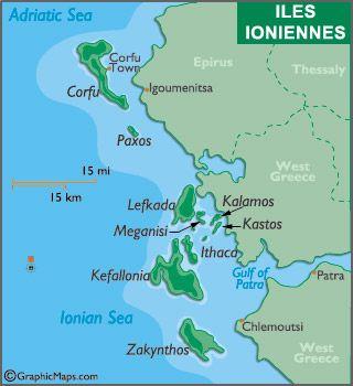 Les Cinq Zones De Navigation En Grece Grece Iles Ioniennes
