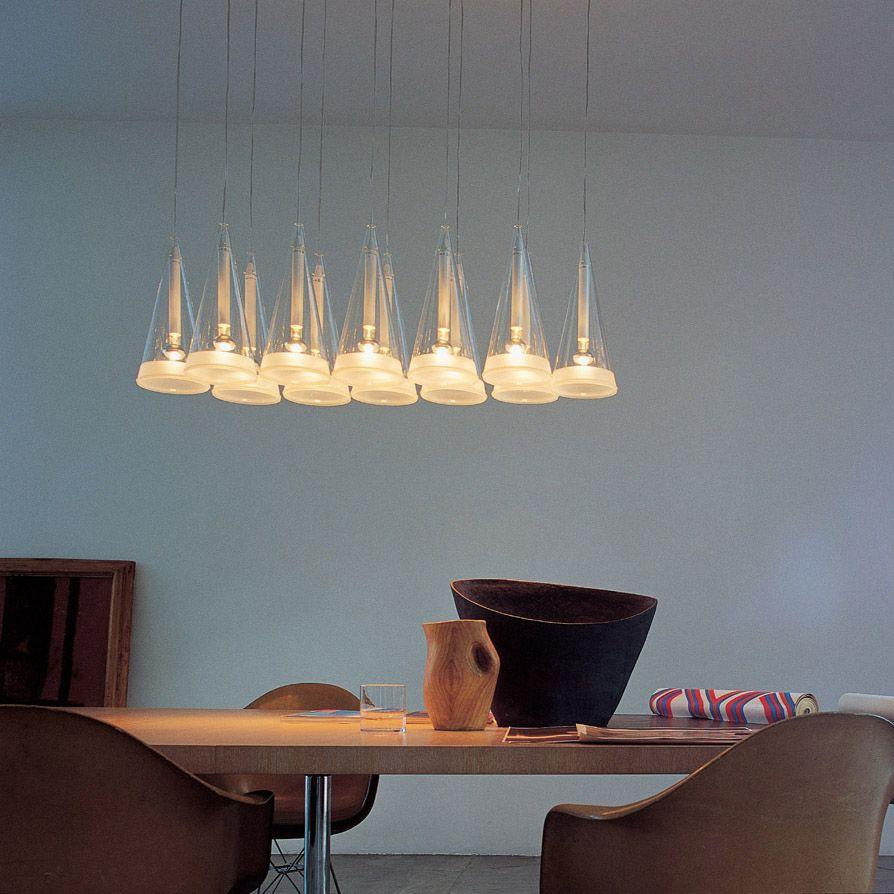 contemporary lighting pendants. FUCSIA 12 By Achille Castiglioni | Contemporary Designer Lighting FLOS Pendants