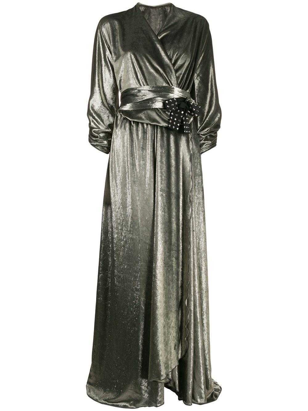 Maria Lucia Hohan Kamelia Velvet Evening Dress