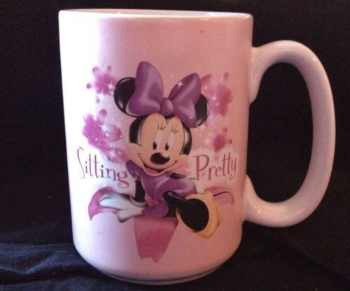 Disney Mug Cup Coffee Minnie Mouse Pink Hot Chocolate Cocoa