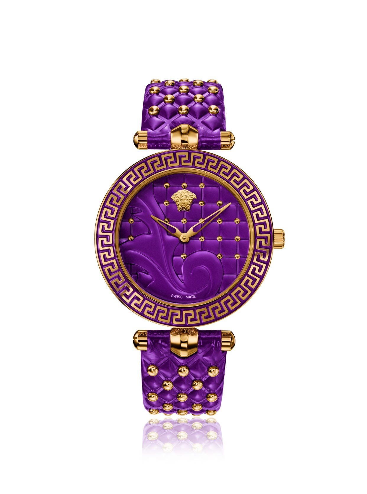 e088835e4f7 Versace Women's VK7120014 Vanitas Purple Leather Watch at MYHABIT $869 on  Amazon