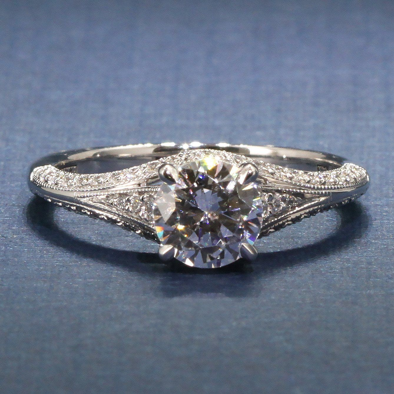 A jaffe modern vintage engagement ring style mes art deco