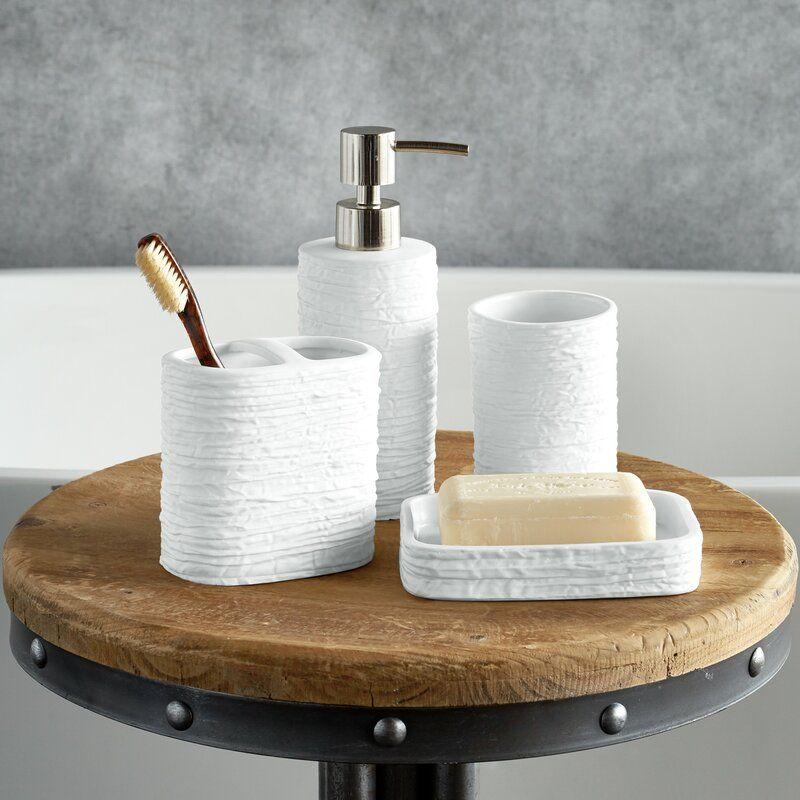 Ripple 4 Piece Bathroom Accessory Set In 2020 Bathroom Accessories Sets Bath Accessories Set Bathroom Accessories