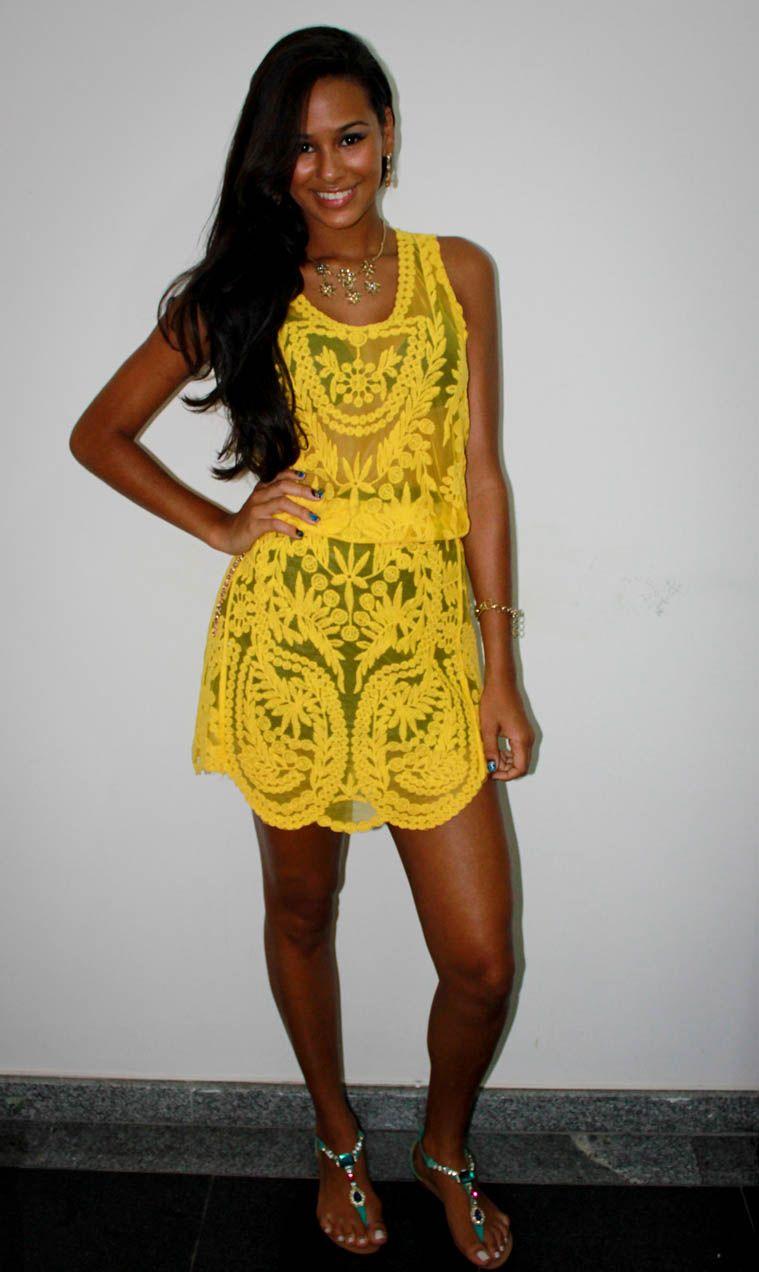 vestido amarelo negras - Pesquisa Google