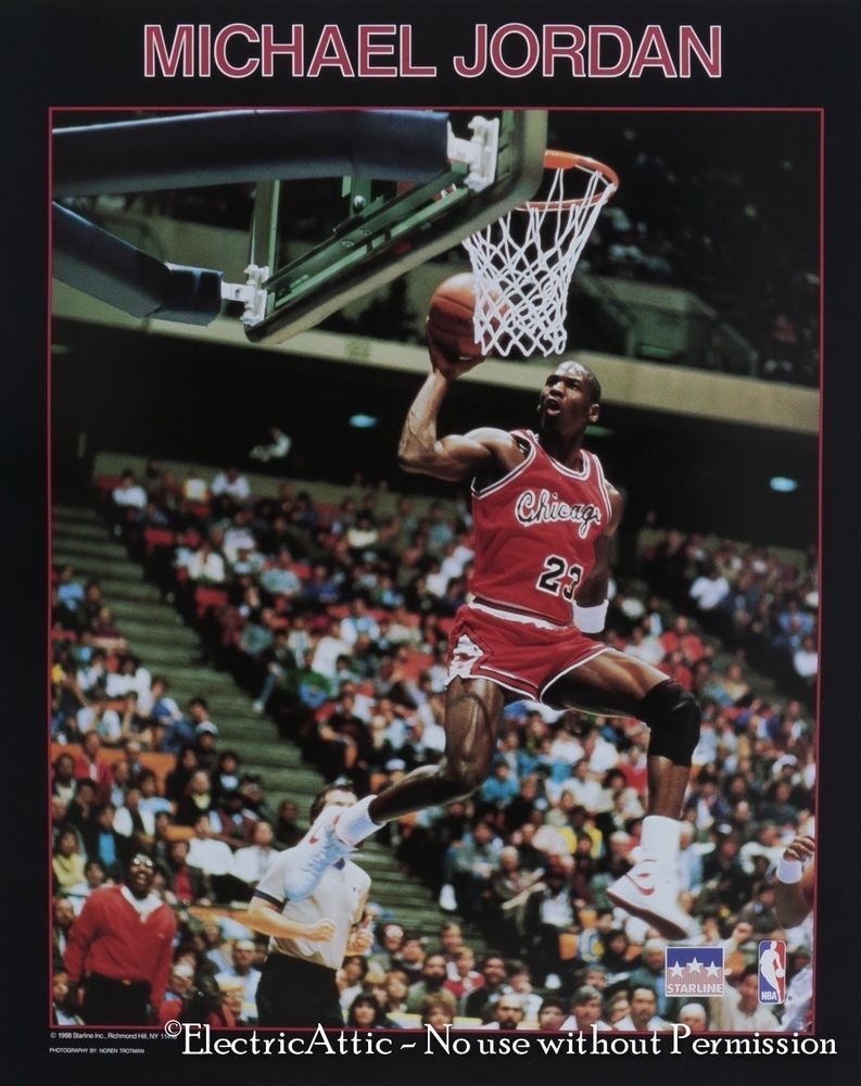 Vintage New Old Stock 16 X 20 1988 Starline Michael Jordan Chicago Bulls Poster Michael Jordan Chicago Bulls Michael Jordan Chicago Bulls