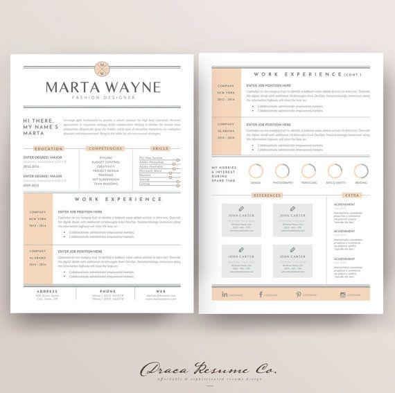 Professional Resume Template, CV Template, Photoshop