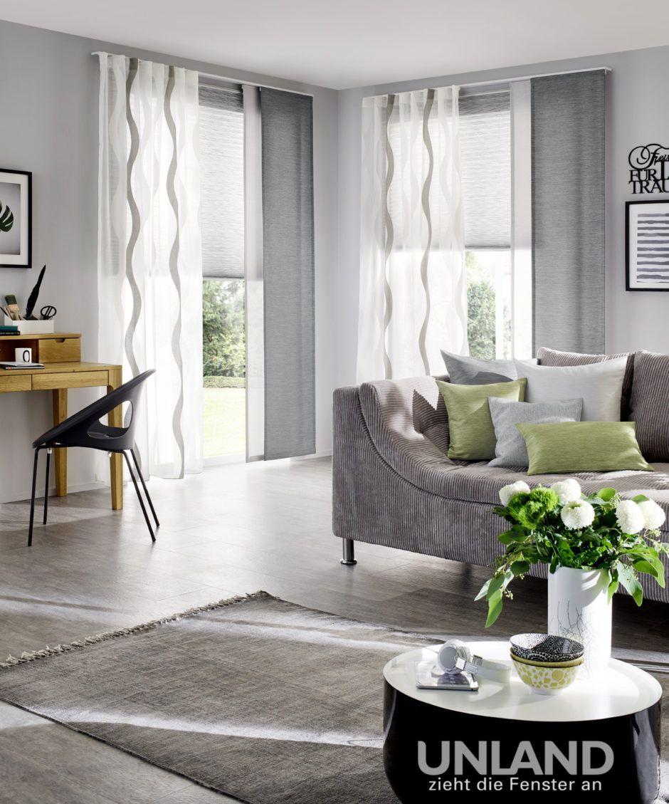 Unland Gardinen Vorhange Dekostoffe Plissee Kissen Gardinen Wohnzimmer Modern Wohnen Vorhange