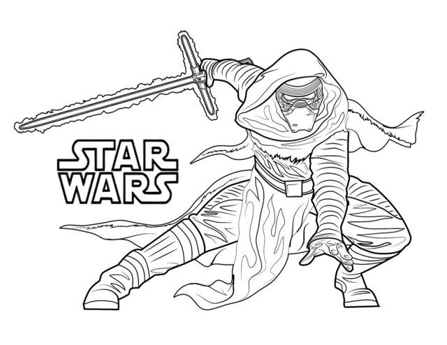Pretty Photo of Kylo Ren Coloring Page Star wars