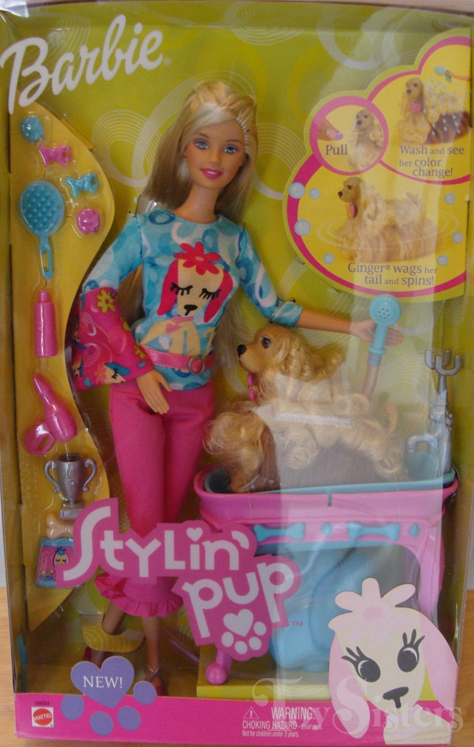 2002 Stylin' Pup Barbie - Toy Sisters