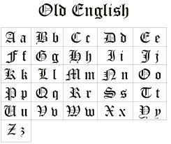 15 Letras goticas para dibujar