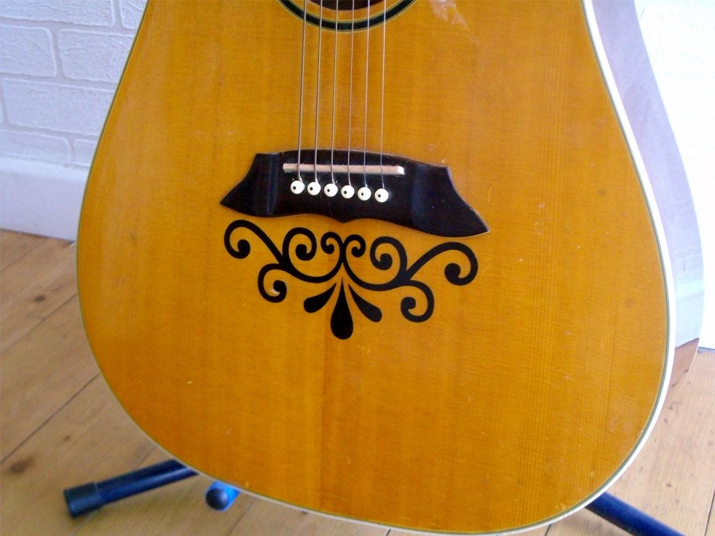 Ornamental Vinyl Guitar Decal Guitar Sticker Guitar Accessories - Guitar custom vinyl stickers