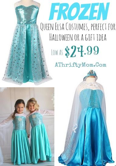 Frozen Elsa Costume Frozen Halloween costume #Frozen #Elsa  sc 1 st  Pinterest & Elsa Costume for Halloween only $24.99 #Frozen #ElsaCostume | Frozen ...