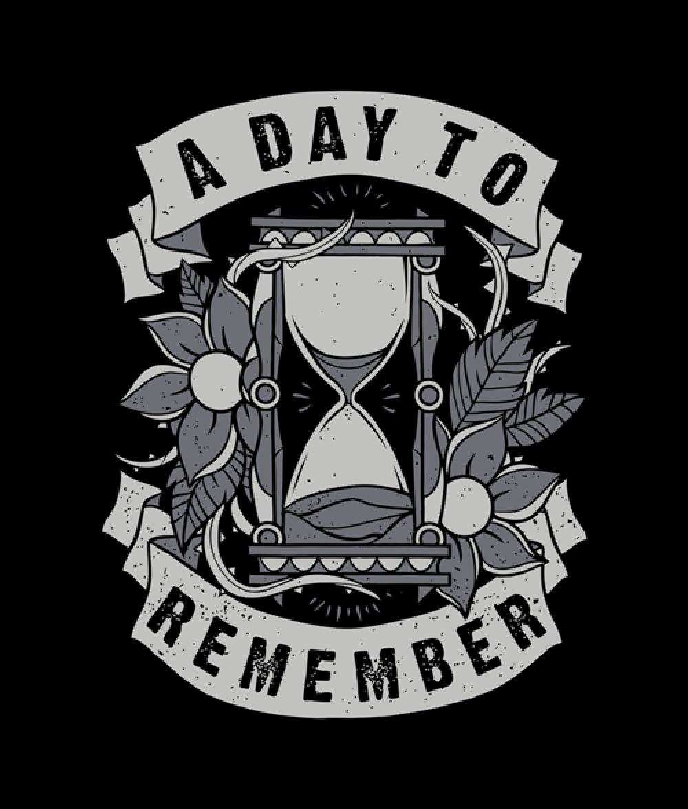 A Day To Remember Hourglass T Shirt Remember tattoo