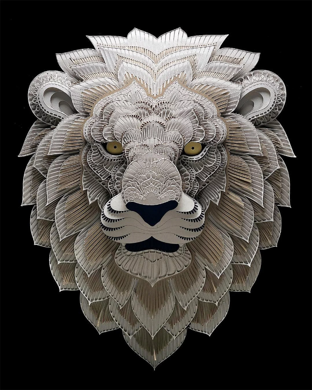 Amazing Layered Animal Portraits by Patrick Cabral