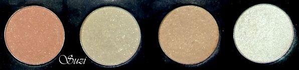 Zoeva Nude Palette - swatches (1st column)