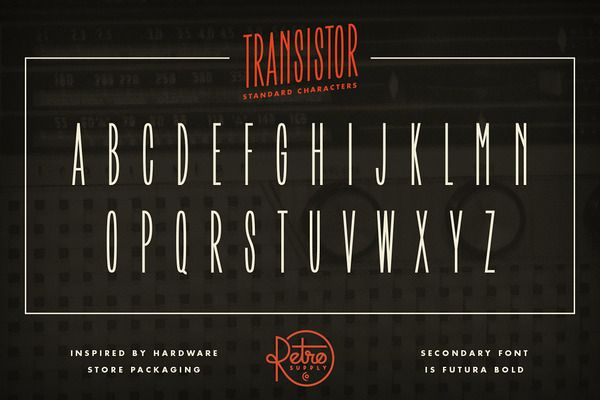 Transistor Font   FREE Download by RetroSupply Co  on