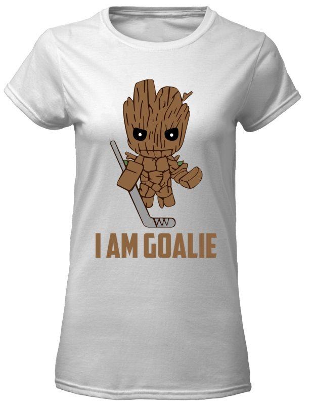 Groot Hockey I Am Goalie Shirt Long Sleeved Tank Top Trending