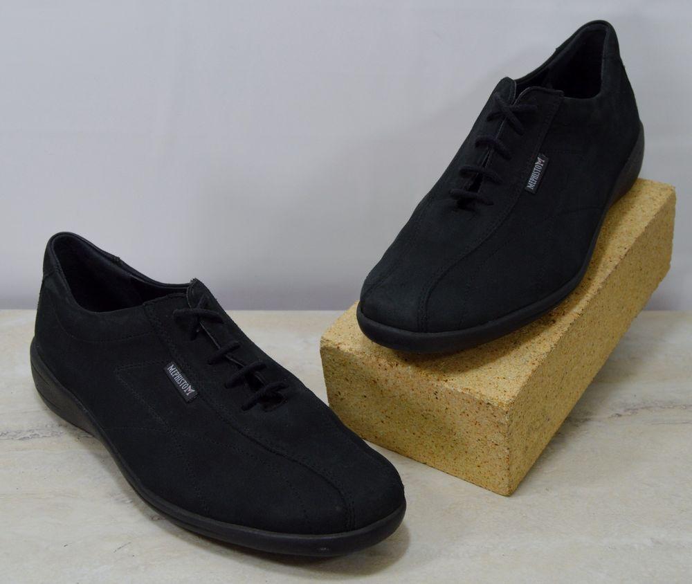 6ad4941ca72de Mephisto Black Nubuck Leather Lace Up Sneakers Women's US 8 M ...