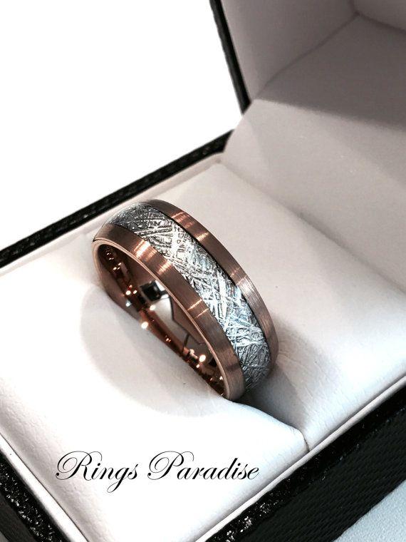 Brushed Rose Gold Wedding Band Engagement Rings Rose Gold