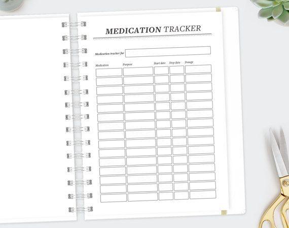 Medication Tracker / A4 A5 Letter / Medication Log Medical History