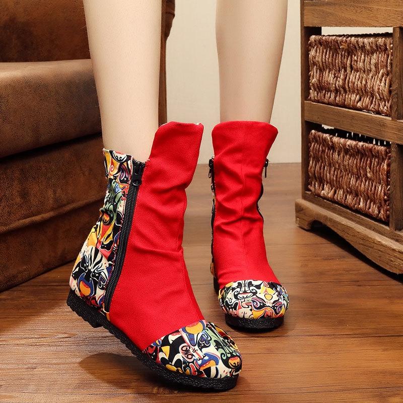 28.36$  Watch here - https://alitems.com/g/1e8d114494b01f4c715516525dc3e8/?i=5&ulp=https%3A%2F%2Fwww.aliexpress.com%2Fitem%2FChinese-Autumn-Winter-Embroidery-Boot-Old-Beijing-Peking-Opera-flower-Print-soft-bottom-boot-women-mujer%2F32725613531.html - Chinese Autumn Winter Embroidery Boot Old Beijing Peking Opera flower Print soft bottom boot women mujer zapatos mujer Black Red