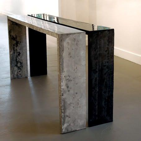 Concrete table by Jan Jander
