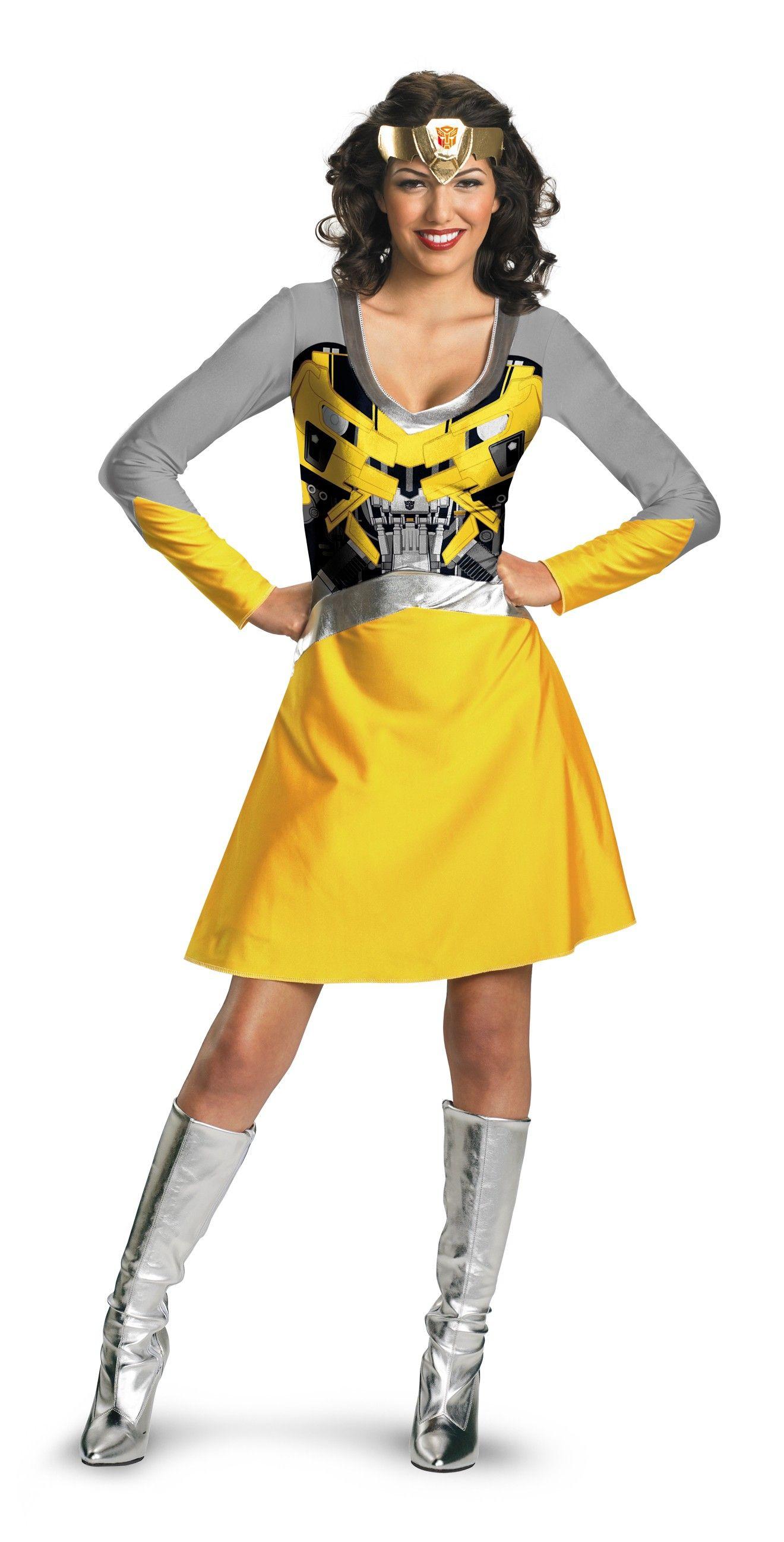 transformers 3 bumblebee female classic adult womens costume - Classic Womens Halloween Costumes