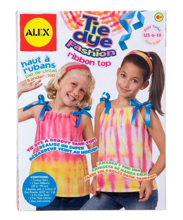 Take a look at this Tie-Dye Ribbon Top on zulily today!