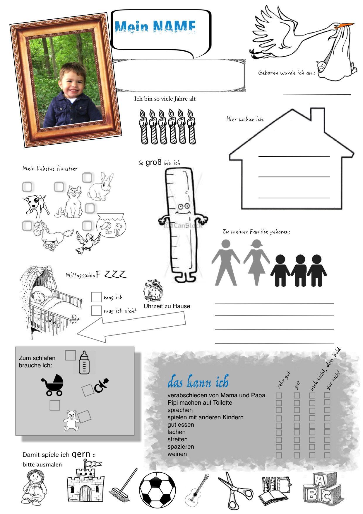 Kindergarten Steckbrief Steckbrief Kindergarten Freunde Buch
