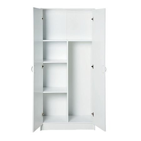 Sort It 2 Door Broom Cabinet 6012 - Storage Furniture - From The Warehouse, And A Reasonable NZ$100 | Storage Furniture, Utility Cabinets, Broom Cabinet