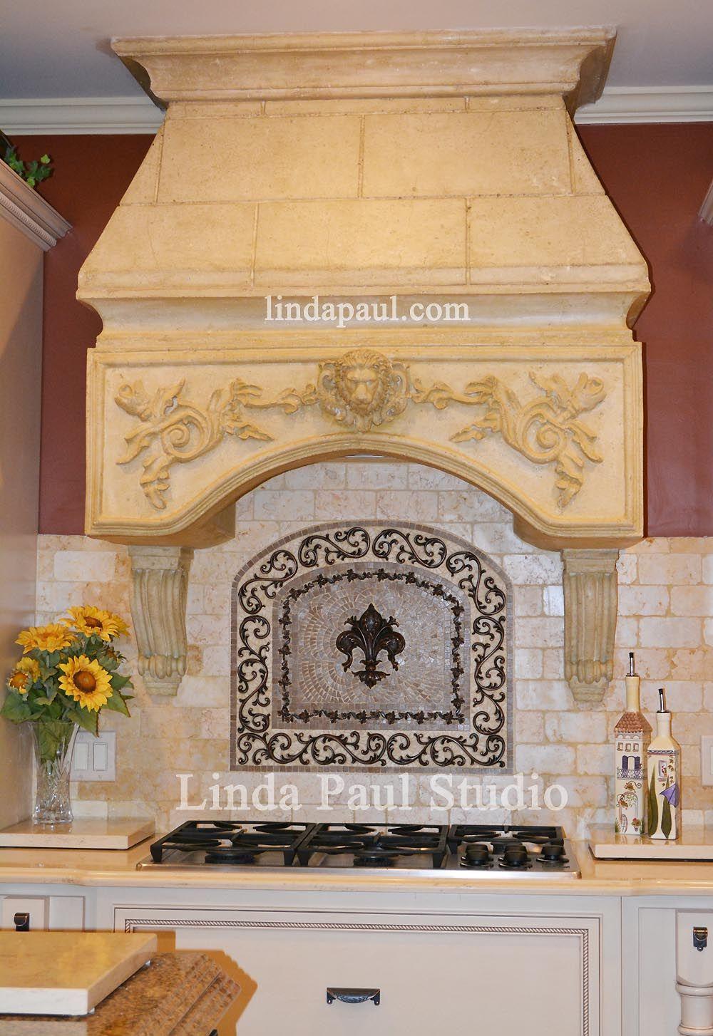 Fleur de lis backsplash tiles - Fleur De Lis Kitchen Backsplash Medallion From Linda Paul Studio See More Details At Lindapaul