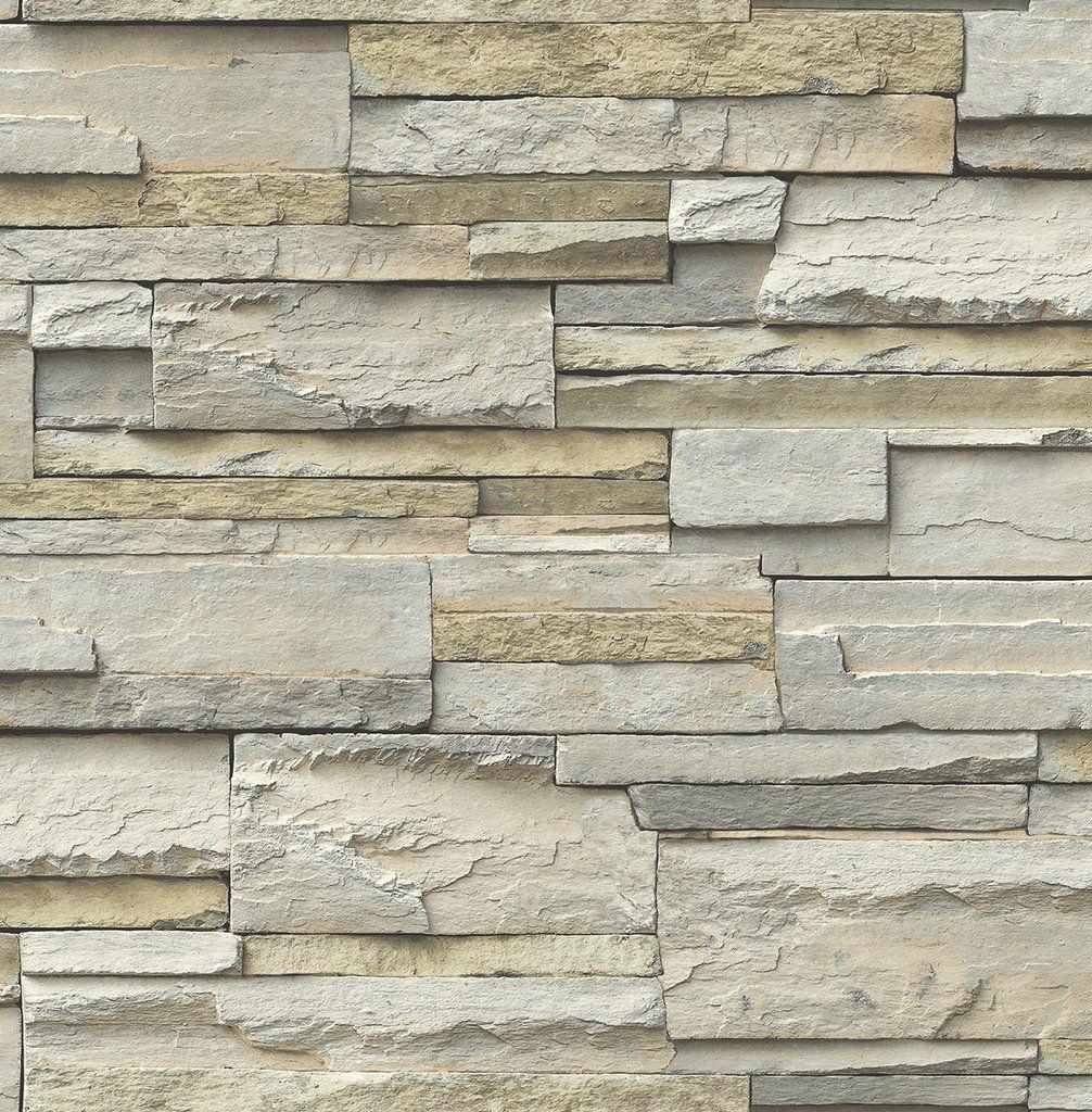 3d Stack Stone Sand Stone Wall Covering Brick In Melbourne Wallpaper Australia Wallpaper Brokers Nuwallpaper Slate Wallpaper Stick On Tiles