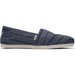 Toms Schuhe Blaue Herringbone Woven Classics Für Damen – Größe 40 TomsToms